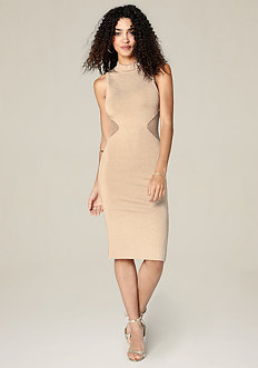 Knit Mock Neck Dress