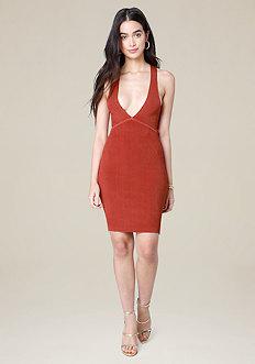 Ribbed Crossback Dress