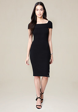bebe Danny Ribbed Dress