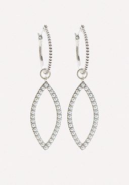 bebe Stud Marquise Hoop Earrings