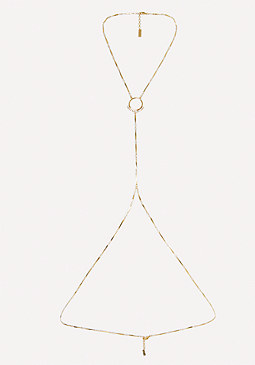 bebe Pave Edge Body Chain
