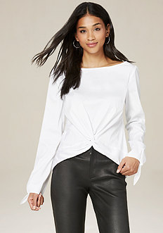 Knot Front Button Back Top