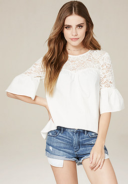 Sexy Tops & Cute Shirts: Cold Shoulder & More | bebe