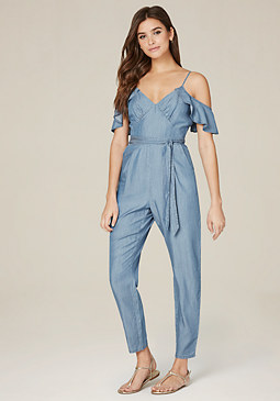 bebe Lionel Chambray Jumpsuit