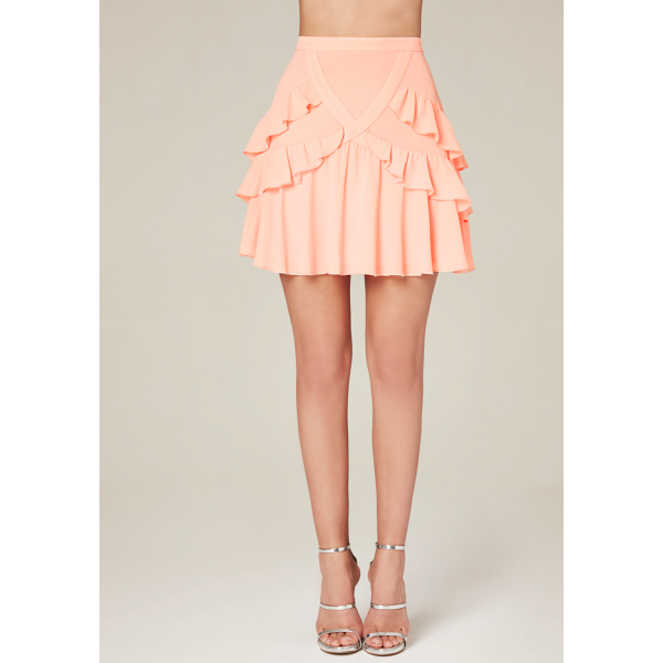 Pale Pink Leather Skirt | Jill Dress