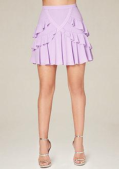 Ruffled Tiers Miniskirt