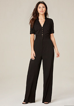 bebe Back Lace Jumpsuit