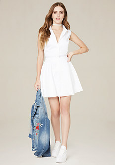 Claire Flared Shirtdress