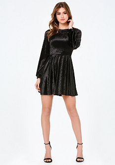 Velvet Flared Dress