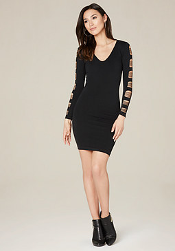 bebe Cutout Sleeve Dress