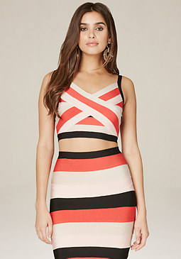 bebe Cynthia Colorblock Top