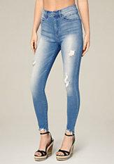 bebe Cut Hem Heartbreaker Jeans