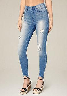 Cut Hem Heartbreaker Jeans