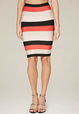 bebe Cynthia Colorblock Skirt