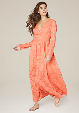 bebe Ann Jacquard Maxi Dress