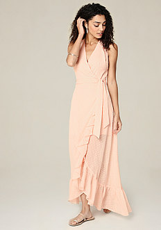 Ruffled Surplice Maxi Dress