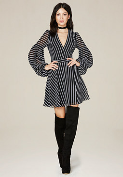 bebe Balloon Sleeve Dress