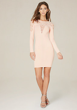 bebe Plunge Sweetheart Dress