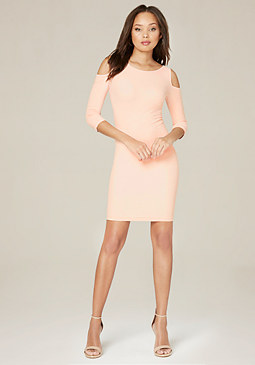 bebe Cold Shoulder Bodycon Dress