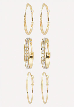 bebe Mix Hoop Earring Set
