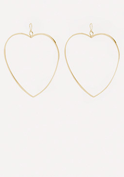 bebe Heart Hoop Earrings