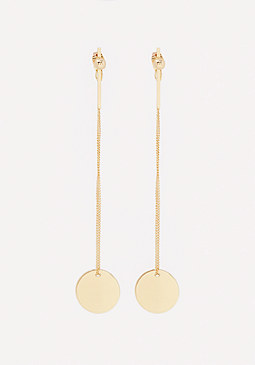 bebe Linear Front-Back Earrings