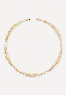 bebe Crystal Mesh Necklace