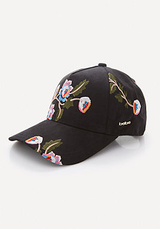 Embroidered Flower Cap