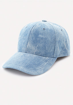 bebe Acid Wash Denim Cap