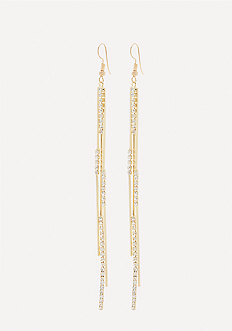 Crystal 3-Strand Earrings