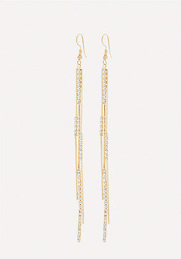 bebe Crystal 3-Strand Earrings