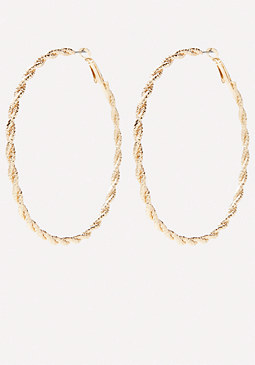 bebe Twisted Hoop Earrings