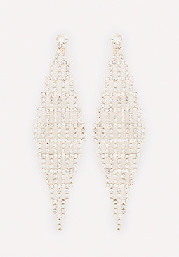bebe Crystal Kite Earrings
