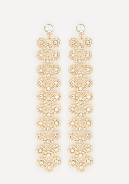 bebe Crystal Florette Earrings