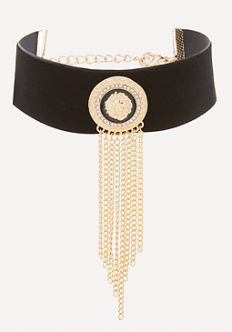 bebe Lion Medallion Choker