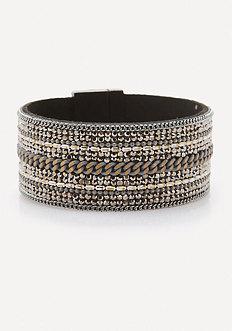 Crystal & Chain Bracelet
