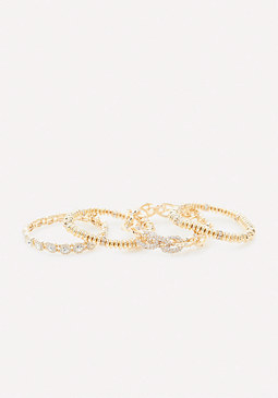 bebe Mix Crystal Bracelet Set