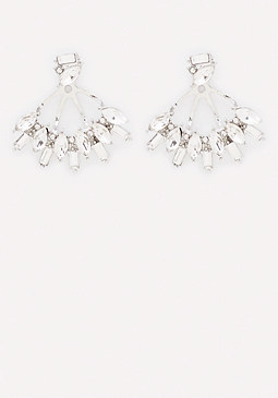 bebe CZ Crystal Ear Jackets