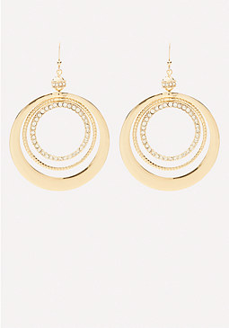 bebe Circle Statement Earrings