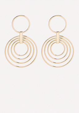bebe Multi-Ring Drop Earrings