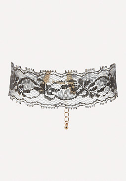 bebe Metallic Lace Choker