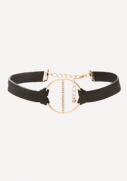 bebe Crystal Circle Choker