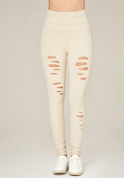 bebe Ripped High Waist Leggings