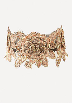 Golden Flower Choker