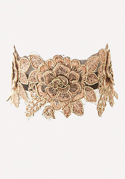 bebe Golden Flower Choker