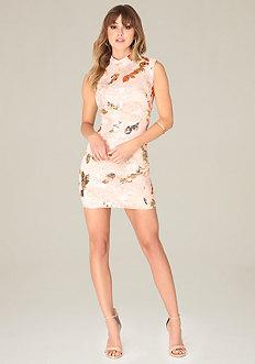 Harley Sequin Floral Dress