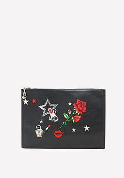 bebe Patches Clutch