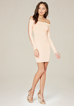bebe Cutout Detail Bodycon Dress