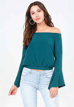 bebe Risa Off Shoulder Top
