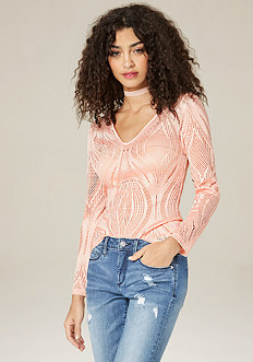 Leafy Lace Top
